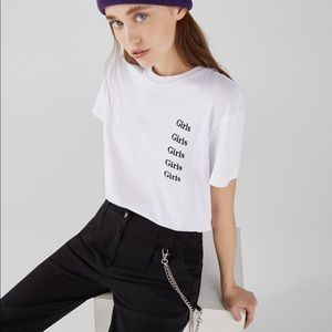 NWOT Bershka Embroidered T-Shirt
